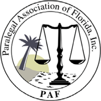 Logo: Paralegal Association of Florida, Inc.