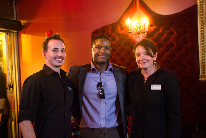 Matt Hamm, Brian Sealey and Deborah Moore at the CAII Wine Tasting for Charity event at 101 Restaurant's Versailles Lounge on December 17, 2014 in Tallahassee, Florida