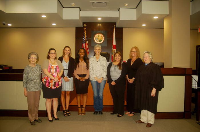 Five new volunteers sworn in as guardians ad litem at the Leon County Courthouse in Tallahassee, Florida on October 21, 2015