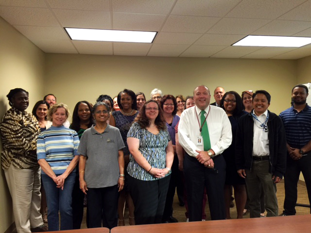 Leon County Judge J. Layne Smith and volunteers participating in Court Testimony Training on March 16, 2016 at the Second Judicial Circuit Guardian ad Litem Program office in Tallahassee, Florida