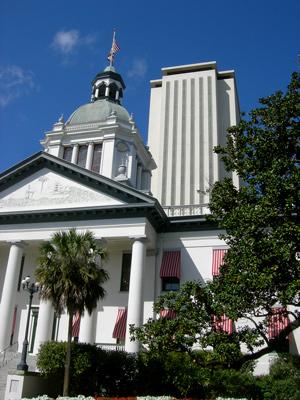 Original Photo Credit: Jonathan Kramer --- Old and New Florida Capitol Buildings