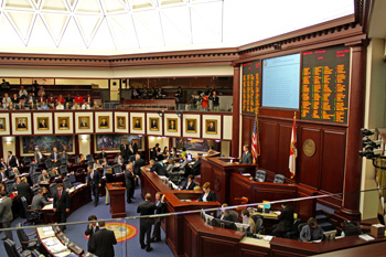 Original Photo Credit: David July/gal2.org --- Legislators vote on CS/HB 5103 (School Readiness Programs) in the chamber of the House of Representatives on the fourth floor of the Capitol during Guardian ad Litem Day on February 9, 2012 in Tallahassee, Florida.