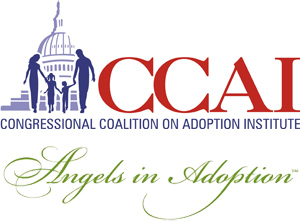 Logo: Congressional Coalition on Adoption Institute, Angels in Adoption