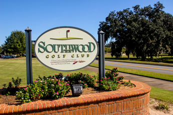 Original Photo Credit: David July/gal2.org --- The main sign for SouthWood Golf Club along Grove Park Drive during the fourth annual CAII golf tournament at SouthWood Golf Club in Tallahassee, Florida on November 2, 2012.