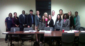 Original Photo Credit: gal2.org --- Graduates of November's Volunteer Training J with circuit staff at the Leon County Court Annex in Tallahassee, Florida on November 15, 2012.