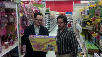 Original Photo Credit: gal2.org/Omega Wynn --- Starbucks store managers Michael and Ricky shopping for toys and clothes in support of the CAII Holiday Wish List Drive on December 13, 2012 in Tallahassee, Florida.
