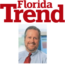 Original Photo Credit: Florida Trend --- Logo of Florida Trend magazine and photograph of Mark R. Howard