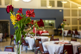 Original Photo Credit: David July/gal2.org --- Flowers on one of the decorated tables ready for guests at Guardian ad Litem Appreciation Day on June 15, 2013 in Tallahassee, Florida.
