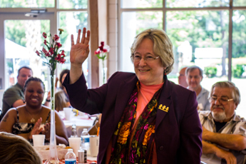 Original Photo Credit: David July/gal2.org --- Judge Karen Gievers is introduced during the awards ceremony at Guardian ad Litem Appreciation Day on June 15, 2013 in Tallahassee, Florida.