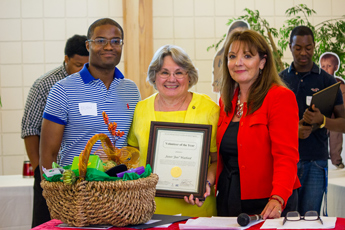 Original Photo Credit: David July/gal2.org --- CAII Board President Brian Sealey, volunteer Jan Watford and Circuit Director Deborah Moore during the awards ceremony at Guardian ad Litem Appreciation Day on June 15, 2013 in Tallahassee, Florida.