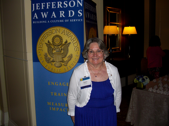 Original Photo Credit: Jefferson Awards for Public Service --- Volunteer guardian ad litem Janet 'Jan' Watford at the Jefferson Awards for Public Service gala in Washington, D.C.