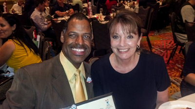 Original Photo Credit: Omega Wynn --- Volunteer guardian ad litem and community supporter Omega Wynn with Circuit Director Deborah Moore at the Statewide Guardian ad Litem Program awards reception on August 28, 2013 in Orlando, Florida.