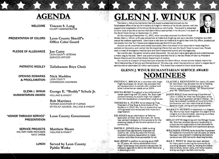 Leon County Government 2013 Day of Remembrance and Service Program