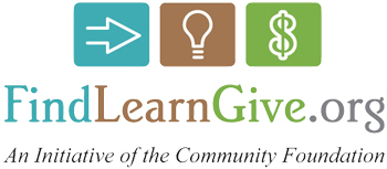 Logo: FindLearnGive.org (an initiative of the Community Foundation)