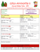2011 Holiday Wish List Project - Wish List Form for Volunteers
