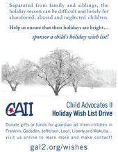 2013 Holiday Wish List Project - Poster for Supporters