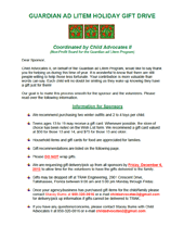 2013 Holiday Wish List Project - Instructions for Sponsors