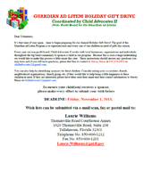 2013 Holiday Wish List Project - Instructions for Volunteers
