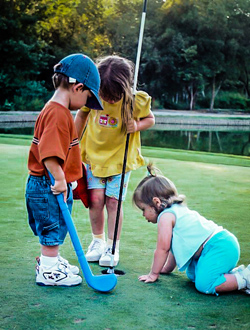 Original Photo Credit: Dereck Bradley --- Tuesday Golf 2001 - Caleb Marisa Shyla