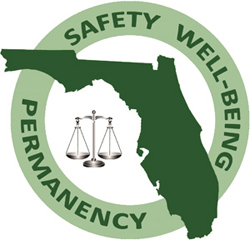 Safety Well-Being Permanency Florida Logo