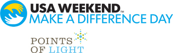 Logos: USA Weekend Make A Difference Day and Points of Light