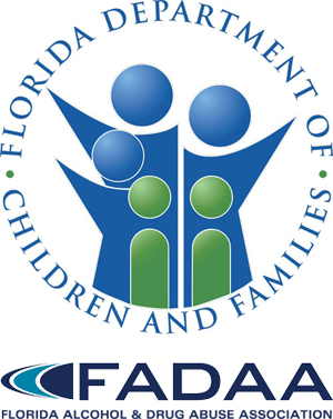 Logos: Florida Department of Children and Families and Florida Alcohol and Drug Abuse Association