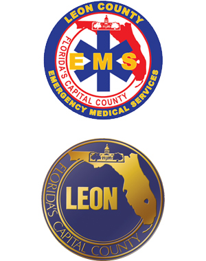 Logos: Leon County EMS and Leon County Government