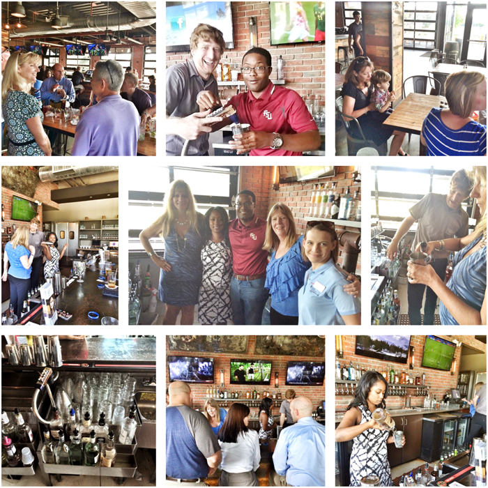 Mosaic of photographs from the CAII Happy Hour at Madison Social on June 18, 2014