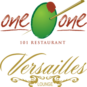 101 Restaurant and Versailles Lounge logos
