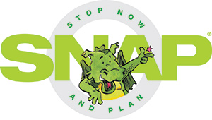 Stop Now and Plan dragon logo