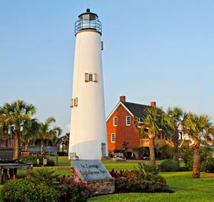 Cape St. George Light at St. George Lighthouse Park