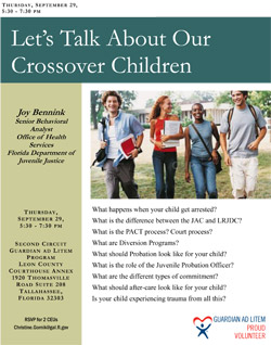 Let's Talk About Our Crossover Children flyer