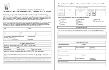 Pro Bono Attorneys Application